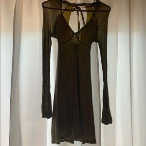 Olive green FP dress